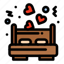 bed, dating, love icon