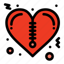 heart, valentines, zipper icon