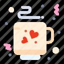 coffee, love, tea