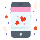 dating, love, mobile icon