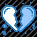 broken, heart, love icon