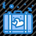bag, briefcase, love, romance, suitcase icon
