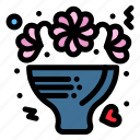 bouquet, celebrate, flowers, love, roses icon
