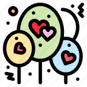 balloon, heart, love icon