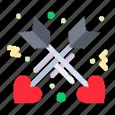 affection, arrow, love icon