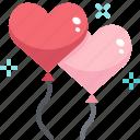 balloon, birthday, celebration, decoration, heart, party, valentine