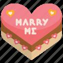 cake, heart, love, marry, proposal, valentine, wedding
