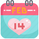 appointment, calendar, date, event, february, romantic, valentine icon