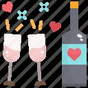 alcohol, beverage, bottle, drink, party, valentine, wine