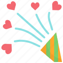 celebration, decoration, event, firework, heart, party, valentine