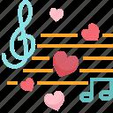 audio, music, note, romantic, song, sound, valentine
