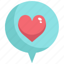 chat, communication, heart, love, message, speech, valentine