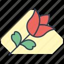 flower, love, romance, rose, valentine icon icon
