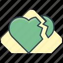 broken, heart, love icon icon