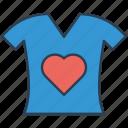 fashion, heart, shirt, tshirt icon icon