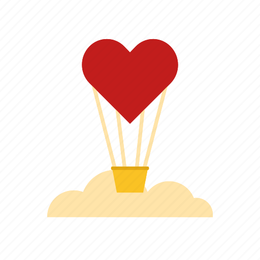 Air, balloon, fly, heart icon - Download on Iconfinder