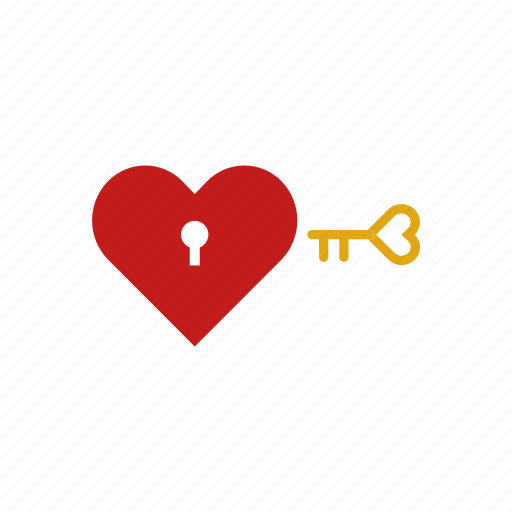Heart, key, unlock icon - Download on Iconfinder