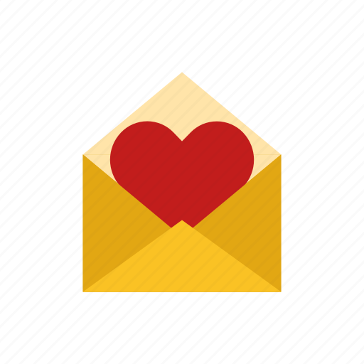 envelope, letter, love icon