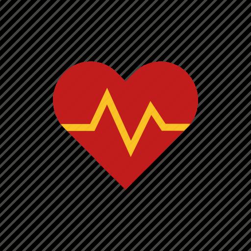 heart, love, pulse icon
