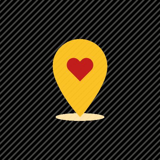 date spot, location, love, spot icon