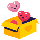 box, hearts, love icon