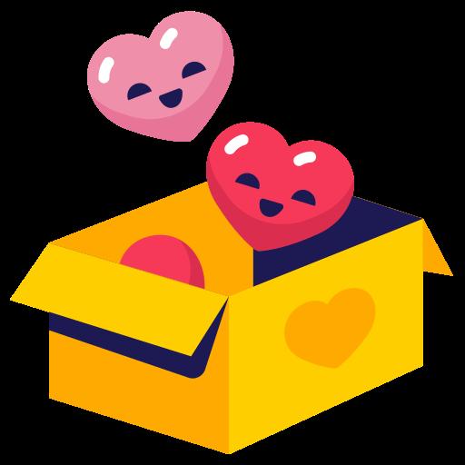 box, hearts, love icon