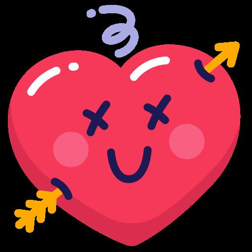 arrow, heart, love icon
