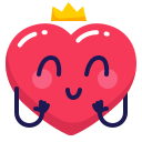 crown, heart, princess icon