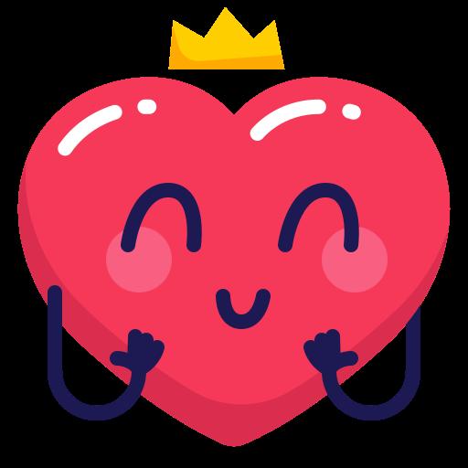 crown, heart, princess icon