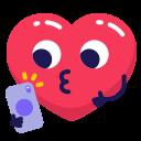 emoji, heart, selfie icon