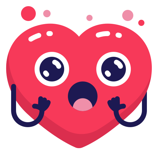 heart, shock, surprised icon