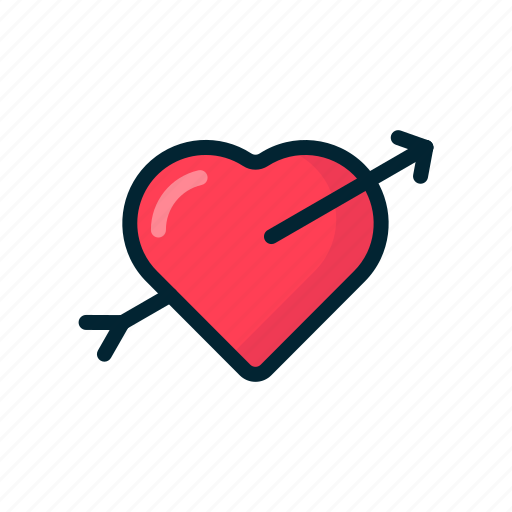 Arrow, bow, day, fallin love, love, valentine icon - Download on Iconfinder