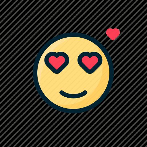 Double eye, emoticon, fallin love, heart, love, valentine icon - Download on Iconfinder