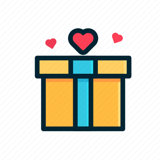 Box, gift, heart, love, share, valentine icon - Download on Iconfinder