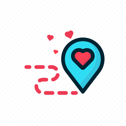 Couple, heart, location, love, purpose, valentine icon - Download on Iconfinder