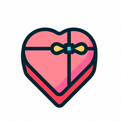Box, chocolate, gift, heart, love, share, valentine icon - Download on Iconfinder