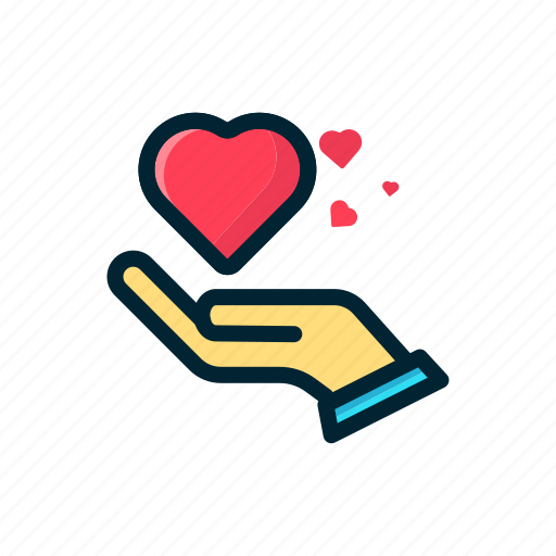 Gift, hand, heart, love, share, valentine icon - Download on Iconfinder