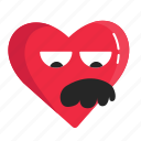 valentine, heart, uncle, love, emoji, funny