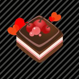 cake, food, hearts, love, romantic, sdesign, valentines icon