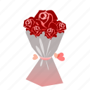 bouquet, flowers, love, romantic, rose, sdesign, valentines icon