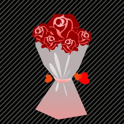 bouquet, flowers, love, romantic, rose, sdesign, valentines icon