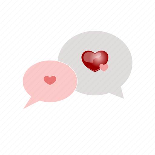 chat, hearts, love, message, romantic, sdesign, valentines icon