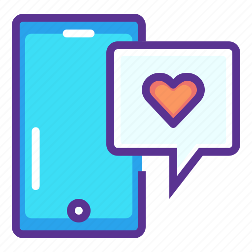 Chat, love, message, mobile, phone, romance, valentines icon - Download on Iconfinder