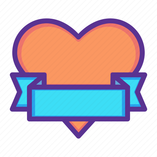 Gift, heart, love, ribbon, romance, valentines, wrap icon - Download on Iconfinder
