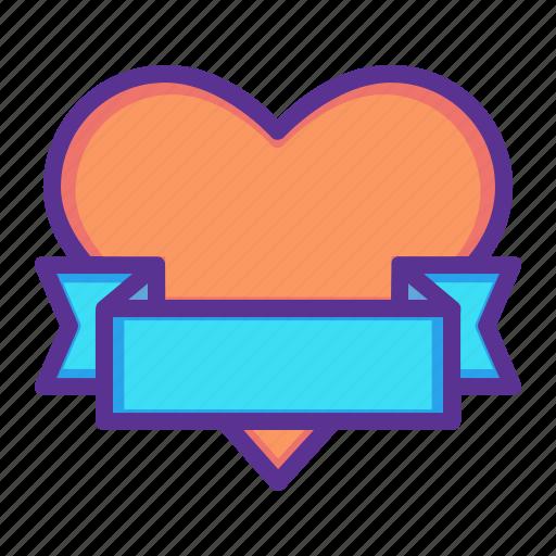 gift, heart, love, ribbon, romance, valentines, wrap icon