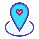 location, love, marker, pin, romance, romantic, valentines icon