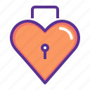 day, heart, keyhole, lock, romance, valentines icon