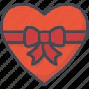 bow, day, heart, holiday, love, ribbon, valentines icon