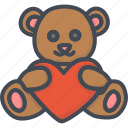 bear, day, gift, heart, holiday, love, valentines icon