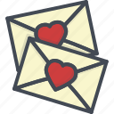 day, heart, holiday, letter, love, note, valentines icon